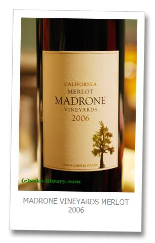 MADRONE VINEYARDS MERLOT